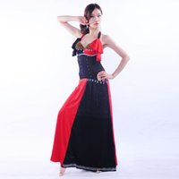 One Piece Bras Ruffles for sale - Professional Egyptian Bellydance Outfit One piece Dress Slim Beads Bra C cup Wrapped Skirt Women Belly Dance Costume Sexy