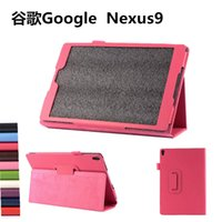 Boîtier google nexus inch Prix-Fold Stand Flip Leather Smart Magnetic Stand Case Cover With Pen Holder Auto Sleep Wake UP pour 8,9 pouces Google Nexus 9 Nexus9