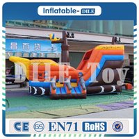 Wholesale bedding prices for sale - high quality cheap price pirate ship bouncy house inflatable castle slide Inflatable toys Bouncing Bed Tramp line