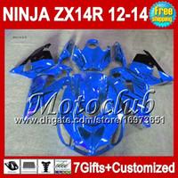 ingrosso cavalletti blu kawasaki-7gifts For KAWASAKI 12-13 NINJA ZX-14R 2012 2013 2012 2013 Blu nero ZX 14 R 25C207 ZX 14R ZX14R 12 13 12 13 ZX14 R nero fiamme Carenatura