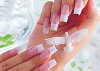 Wholesale Wholesale Stencils French - Wholesale-Hot 30pcs Lot French Manicure Nail Art Tips Form Fringe 10 Style Guides Sticker DIY Stencil Nail Polish Mate Free shipping