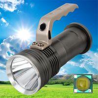 Wholesale High Power Led Flashlight Bulbs - High Power Portable Aluminum Waterproof CREE LED R5 Searchlight 18650 Battery Rechargeable Flashlight 500M Range Military Torch Light Lamp