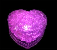Wholesale Ice Cube Light Sale - Christmas Decoration heart shape LED ICE Cube block Light Automatically Flashing Lamp for Christmas Party Gifts Hot Sale