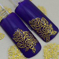 Wholesale Nail Stamp Halloween - 3D gold Decal Stickers Nail Art Tip DIY Decoration stamping Manicure