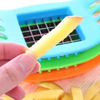Wholesale potato fries cutter resale online - Stainless Steel Vegetable Potato Slicer Cutter Chopper Chips Making Tool Potato Cutting Fries Tool Kitchen Accessories TY1552