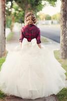 petticoat hat topu elbisesi toptan satış-2015 Beyaz Balo Uzun Kadınlar Lady Kızlar Etekler Ücretsiz Kargo Ucuz Tül Moda Tutu Etekler Petticoat Jüpon Kat Uzunluk Elbise