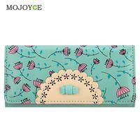 Wholesale Printing Folder - Wholesale- Fashion Flora Printing Wallet Women Luxury Brand Folder Women Clutch Wallets Card Holder Money Purse Candy Color Card Holder