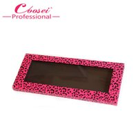 Wholesale Makeup Palette Leopard - Wholesale- Free Shipping!2 pcs Empty Magnetic Makeup Set,Hot Pink Leopard Magnetic Eyeshadow Palette,Fill 12*36mm pans