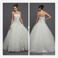 Wholesale Pnina Tornai Ball Gown Dresses - Custom made ball gown Corset and Tulle wedding dress Pnina Tornai beading embroidering plus size wedding dresses bridal gowns