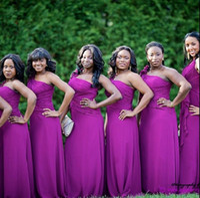 Wholesale unique flowered prom dresses - Unique One shoulder Chiffon Long Purple Bridesmaid Dress Under 50$ Party Dress 2015 Prom Vestidos wedding party dresses