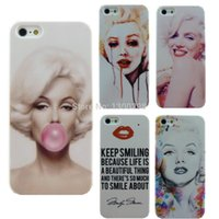 Wholesale Iphone 5s Marilyn Monroe - Free Shipping Stylish Marilyn Monroe Bubble Gum Protective Hard Cover Case For Apple i Phone iPhone 5 5S