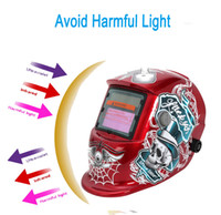 Wholesale Solar Auto Welding Mask - Red Special Design Solar Auto Darkening Welding Helmet Mask Skullcandy + Spidernet PIT_101