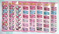 Wholesale Mix Snap Hair - Free Shipping Mixed Color Hello Kitty Children Hair Accessory Haripin Snap Hair Clips Girls 240 pcs