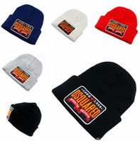 Wholesale Mens Designer Hats Caps - Brand DSQ Beanies Knitted Hats Designer Winter Warm Thick Beanie Fedora Fashion Fleece dsq Skull Caps Mens Crochet Hat Women Skiing Hats C33