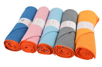 Wholesale Wholesale Yoga Mats - Skidless Microfiber Yoga Mat Towel Silicon Brand New Non Slip Yoga Sport Fitness Exercise Pilates Blankets 183*61cm