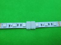 Wholesale-5pcs / lot, 4pin LED connettori Strip connessione a filo bordo 10 millimetri PCB per 5050 striscia di colore RGB