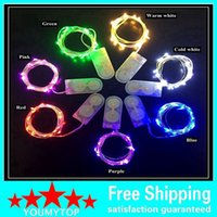 Wholesale Rice Lights String - LED Copper Wire String Lights CR2032 Button Cell Battery Rice String Light 2M 20LED Fairy Light for Christmas Wedding Decoration