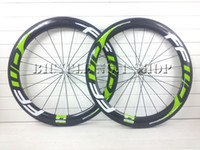 Wholesale Green Clincher Wheels - 2015 2016 FFWD F6R black green 60mm Clincher tubular carbon wheels 700C road bike full carbon bicycle wheelset light weight