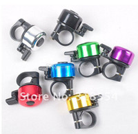 Wholesale Bell Horn - 1200pcs lot # Bike Frame Mini small Metal Ring Handlebar Bell Sound Horn Horns for Bike Bicycle Cycling Free shipping