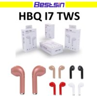 Wholesale Dhl X Mini - HBQ i7 TWS Twins Wireless Earbuds Mini Bluetooth V4.2 Stereo Headset earphone For Iphone x Samsung S8 with Retail Box Free DHL