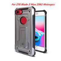 Wholesale zte blade cases - Hybrid Armor Case For ZTE Blade X Z965 Cricket For ZTE Blade Z Max Z982 Metropcs Dual Protective Shock-Proof With Kickstand C