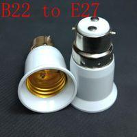 Wholesale E27 B22 Adaptor - B22 To ES E27 Screw Light Bulb Adaptor Lamp Fitting Converter Holder