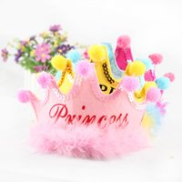 Wholesale Masquerade Hats - Multi Colors Birthday Party Kids Hat Headband Princess Prince Imperial Crown Cosplay Props Carnival Masquerade Performance Decoration 20pcs