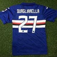 156853914 2017 18 SAMPDORIA MAGLIA MAGLIE HOME AWAY CUSTOMIZED soccer uniform kits soccer  jerseys thai quality thailand quality football shirts kit ...