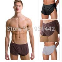 Wholesale White Mens Bodywear - Wholesale-Sexy N2N Men's Underwear Brands Boxer Shorts for men Mens Boxers Shorts Male Bodywear Boy Panties
