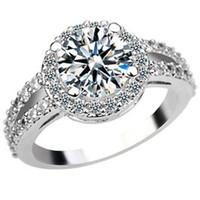 Wholesale Insert Flash - Luxury flash micro insert 2 345 diamond ring eight female heart eight zircon jewelry gift ring arrow
