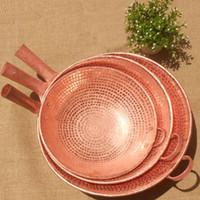 Wholesale Copper Handmade Pot - Wholesale-Pure Copper Frying Pan Wok Scoop Beef Pot Cooking Handmade Thick
