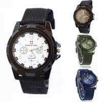 Wholesale Gemius Army Racing Sports Watch - Wholesale-2014 New Arrival Fashion Gemius Army Racing Force Military Quartz Sport Mens Officer Fabric Band Watch Free shipping & wholesale