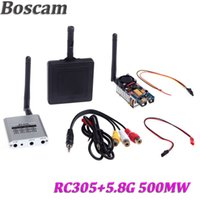 Wholesale Transmission Audio Video - Boscam 5.8Ghz 8CH AV RC305 Video and audio Receiver + Wireless 5.8G 500mW Transmitter + 11db Aerial Panel FPV Transmission Set order<$18no t