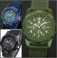 Wholesale Luxury Men Cloth Wholesale - 2016 Luxury Analog Swiss Gemius Army Watch Cloth Fabric Wristwatches Sport Military Style Wrist Watches for Geneva quartz Men Watches