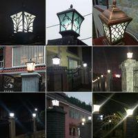 ingrosso recinzione del pilastro-BE132 Door Column Lamp Outdoor Villa Garden Pilastro Luci Impermeabile Cortile Illuminazione Wall Fence Posti Lampade Paesaggio fari