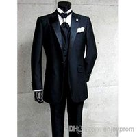 Wholesale Men Dress Suits Products - Fashion products sell like hot cakes, the groom dress, black 2015 weddings the best man for the boy suit (jacket + + pants + tie vest