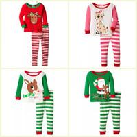 Wholesale suit pijamas resale online - Kids Girls Christmas Pajamas Set Baby Girls Clothing Set Children Boys Sleepwear Baby Pijamas Suit For Baby Boy