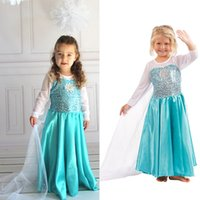 Wholesale Petals Dhl - Wholesale Girls cosplay skirts children long sleeve custom dresses kids make up dress Dhl shipping free