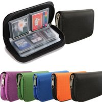Excelente Calidad 22pcs CF / SD / SDHC / MS / DS Micro Memory Card Almacenamiento Carrying Case Bolsa Bolsa Monedero Holder 6 colores