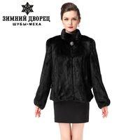 Wholesale Mink Collar Black Coat - Fashion Fur coat,Real fur,Genuine Leather,Slim,Black,coat fur,women's fur coat,mink coat,real fur coat,Free shipping