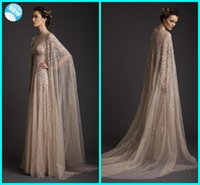 Wholesale Monarch Prom - Real Image!Krikor Jabotian Stunning Sexy Decent Scoop Sequin A-line Formal Gown Monarch Train With Cloak Saudi Arabia Celebrate Prom Dresses