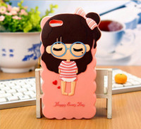 Wholesale Galaxy Note Ii Pink Case - Wholesale Quality products for Samsung GALAXY Note II 5.5 inch mobile phone shell cute cartoon soft silicone protective cover free shipping