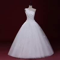 Wholesale One Strap Organza Wedding Dresses - LY20 Sexy Fashionable Plus Size Custom Made Real Photo Cheap One SHoulder Wedding Dress 2017 Bridal Dress of bride Gowns Dresses Vestidos