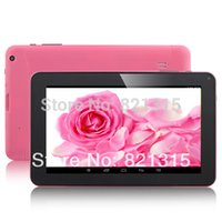 Wholesale 9inch Pink Cheap Tablets - Wholesale-dhl freeshipping 9inch Allwinner A23 dual core, 8GB ROM Android 4.2 tablets,cheap 9inch a23 tablet pc wifi dual camera bluetooth