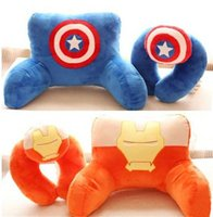 Wholesale Avengers U Shapes Neck Pillow Cartoon Captain America Iron Man Hulk Soft Plush Pillow Office Good Necessities H336
