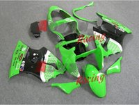 Decalcomanie verde iniezione kit carenature Carrozzeria Kawasaki Ninja ZX6R 2000-2002 24