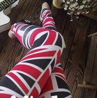 Donne della ragazza sexy Union Jack Leggings Bandiera britannica signore Jeggings batch pantaloni Causul Fitness