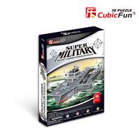 Wholesale 3d Puzzle Tank - Wholesale-CubicFun DIY handmade 3D Puzzle Tank F117 , Children's toys Creative, diy toys for adults kids
