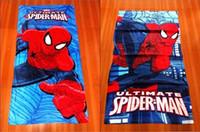 Wholesale Men Bath Towels - 12pcsIn stock ! free shipping 2014 spiderman bath towel 120*60 cotton towels bathroom children beach towel kids bath towel spider-man towels