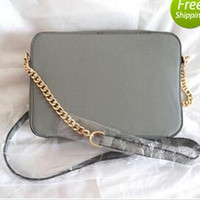 Wholesale Gold Cross Body Handbag - free shipping 2019 men or women Leather gold silver chain hot sell Wholesale retail bags handbags shoulder totes bags messenger 8 color
